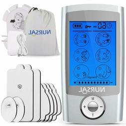 NURSAL EMS TENS Unit Muscle Stimulator with 8 Electrode Pads