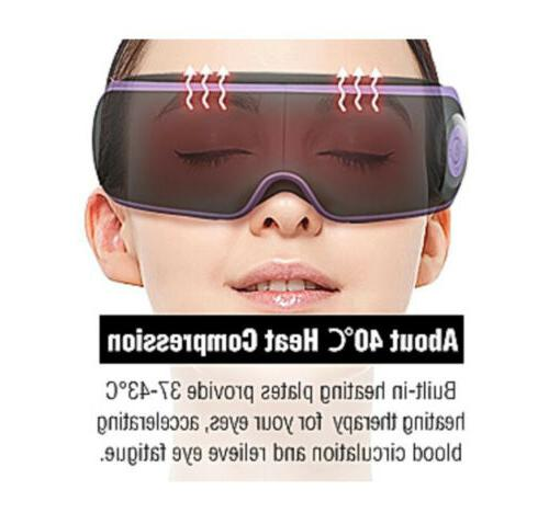 Electric Bluetooth Eye Care Massager Hot Compress Rechargeable For