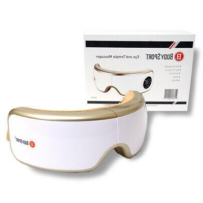 eye and temple massager heat compression