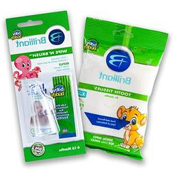 Baby Buddy Wipe-N-Brush & 30 Wipes Stage 3 for Babies/Toddle